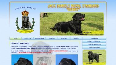 Oficiální stránky retrievera Jack Daniels Royal Standard