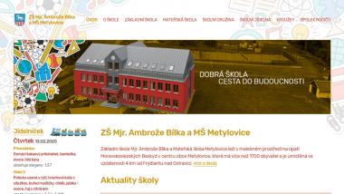 Oficiální stránky Základní školy Mjr. Ambrože Bílka a Mateřské školy Metylovice